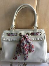 Redherring Handbag In White With Scarf Effect Adornment