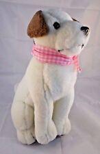 """The Petting Zoo Plush Jack Russell Dog 12"""" w/ Bandanna 1994"""