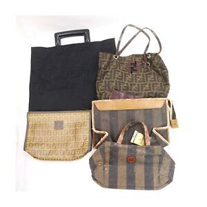 Fendi Nylon PVC Hand Bag Clutch 5 pieces set 525330