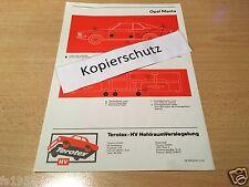 Opel Manta A,  Terotex Hohlraumversiegelungsplan