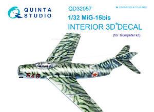 Quinta QD32057 1/32 MiG-15bis 3D-Printed & coloured interior (for Trumpeter kit)