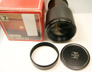 Sigma 70 to 150mm f3.5 manual focus zoom lens for Minolta MINT