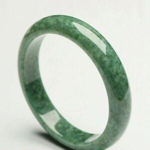 Antique Chinese Mayamar JADE Jadeite Handmade Natural Green Gemstone Bangle UK