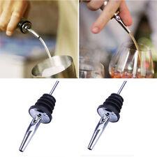 2pcs Free Flow Wine Bottle Pour Spout Stopper Liquor Spirit Pourer Kitchen Tool