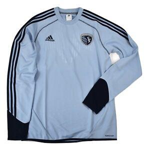 adidas Mens MLS Sporting KC Kansas City Formotion Training Top Jersey NWT $80 M