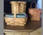 Lot Of 11 Longaberger Baskets 3 Medium Gathering Basket  Plus 5 Small L01