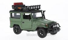 TOYOTA fj40, Matt-verde, con tetto trave bagagli - 1:24 Motormax