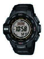 Casio Pro Trek Men's Tough Solar Triple Sensor Black Resin 52mm Watch PRG270-1