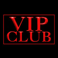 170237 VIP Club Membership Exclusive Special Treatment Free Beer LED Light Sign