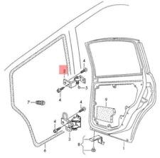 VOLKSWAGEN PASSAT B5 Rear Right Door Upper Hinge 3B4833402E NEW GENUINE