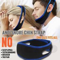 Snore Stop Belt Anti Snoring Cpap Chin Strap Sleep Apnea Jaw Solution TMJ