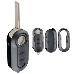 3 Button Car Key Folding Case Fit for Fiat 500 Doblo Ducato Panda Punto Peugeot