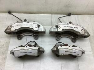 04-10 Porsche Cayenne (18Z 350mm Rotor)Front & Rear Silver Calipers - Set of 4