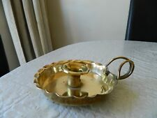 Collectable solid brass chamber stick/ candle holder by Joseph Sankey