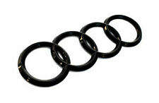 AUDI RINGS BLACK GLOSS REAR BOOT BADGE EMBLEM 192mm X 68mm FITS TT Q A R series