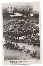 ROYALTY - CORONATION, KING GEORGE V. 1911, ROYAL STATE COACH Real Photo Postcard