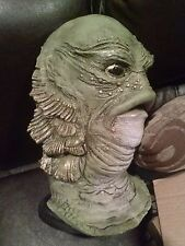 Gillman creature black lagoon UNIVERSAL monsters horror resin BUST on stand