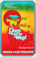 Original Vintage Poster Gone with the Wind Musical Theater Romance Scarlett 1974