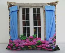 French Country Blue Chateau Window Cushion Cover 45cm