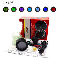 """2"""" 52mm Car Digital LED Turbo Boost Vacuum Pressure Gauge Meter 35 Psi 7 Color"""