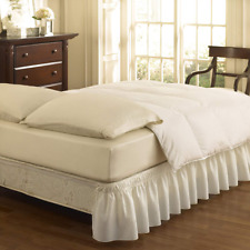 Ruffled Eyelet Bed Skirt Twin Full Size Elastic Bedroom Decor 15-18 Drop White