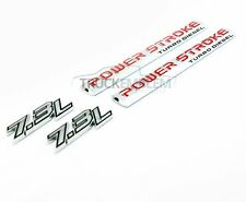 "2 NEW CHROME ""2017"" FORD 7.3L F250 F350 POWERSTROKE DOOR BADGES EMBLEMS PAIR"