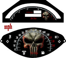 Yamaha Road Star Warrior XV 1700  Speedo & Tach  3D Pun  2002-2009  KM/H  & MPH