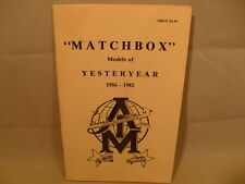"MATCHBOX YESTERYEAR 1956-1982 AMI VARIATION GUIDE 5-1/2"" X 8-1/2"" WITH 68 PAGES"