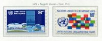 19102) UNITED NATIONS (New York) 1971 MNH** Definitives