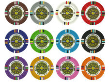 NEW 500 PC Gold Rush 13.5 Gram Clay Poker Chips Bulk Lot Pick Your Chips