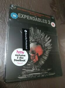 *New & Sealed* The Expendables 2 Steelbook Blu ray + DVD Pack. UK HMV Rare/OOP