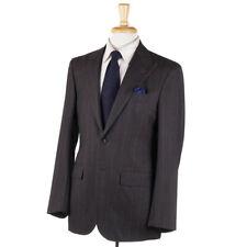 NWT $7695 KITON Brown-Burgundy Stripe Wool Suit with Peak Lapels 38 R (Eu 48)