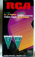 RCA VHS 3 Blank Tapes Video Cassette VCR T120 6 Hour Three Pack New Sealed