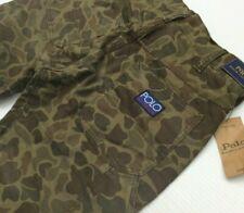Polo Ralph Lauren Hi Tech Military Camo Reflective Hem Carpenter Cropped Jeans