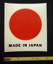 Made in Japan Water Slide Decal Sticker~Original 60's Vintage~Racing Motorcycle