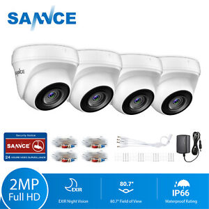 SANNCE 4x 1080P HD CCTV Home Security Camera 3000TVL 100ft IR Night Vision 2.0MP