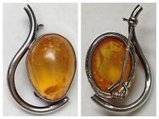 SPILLA 835 ARGENTO AMBRA SPILLA AMBRA SPILLA D'argento accessorio di pietre