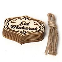 Eid Mubarak Ramadan Decoration Crafts Decoration Wooden Ornament 10pcs