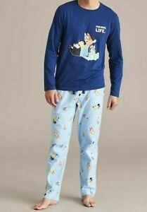 MENS size S BLUEY genuine Navy Flannelette flannel pants pyjamas Target NEW NWOT