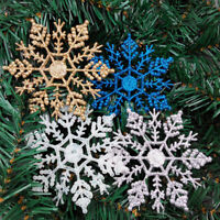 Christmas Tree Hanging Ornaments Snowflake Xmas Gift Party Home Decoration 12Pcs