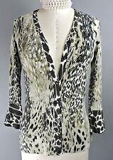 Alberto Makali Cardigan S Animal Print Brown/Beige Button Down Sweater Jack*1008