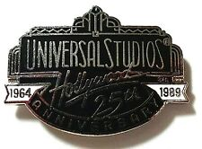 RARE OFFICIAL CLASSIC UNIVERSAL STUDIOS HOLLYWOOD CALIFORNIA 25TH ANNV PIN BADGE