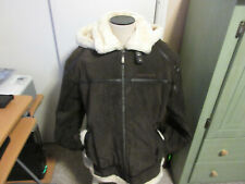 PHAT FARM Cowhide Leather winter jacket new