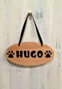 Fun Dog Slogan Wooden Signs - Personalised with YOUR Dog's name