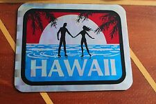 HAWAII Paradise Love Ocean Surfing Sunset Vintage 1980's Prism 3D 3x4in. Sticker