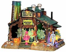 Lemax 15202 RAVE AT GRAVE'S Spooky Town Building Retired Sights & Sounds Decor I