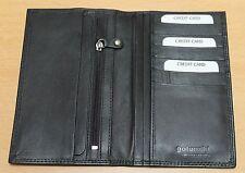Golunski Black Slim Leather Mens Notecase Suit Wallet * Long