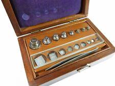 Antique Laboratory/Apothecary Metric Weight Set — Refinished Mahogany Box
