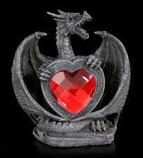 Dragones Figura - excidium Con Rojo Corazón - Gótico Amor Regalo Decoración