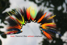 12 pcs Assorted Tube Fly Set Fly Fishing Flies Lures Salmon Fly Trout Flies